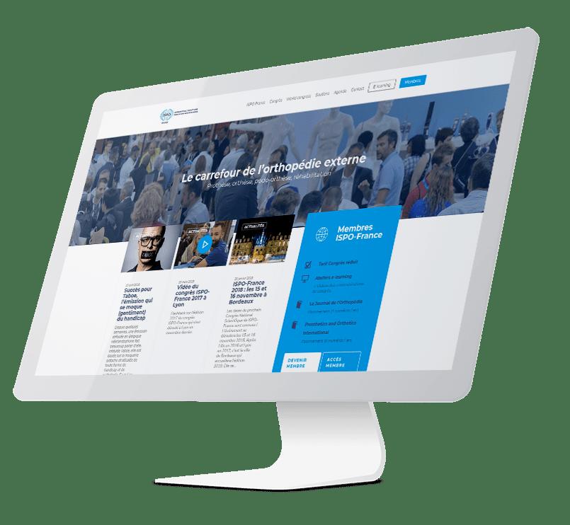 ISPO iMac agence wordpress web design lyon developpement application smartphone france