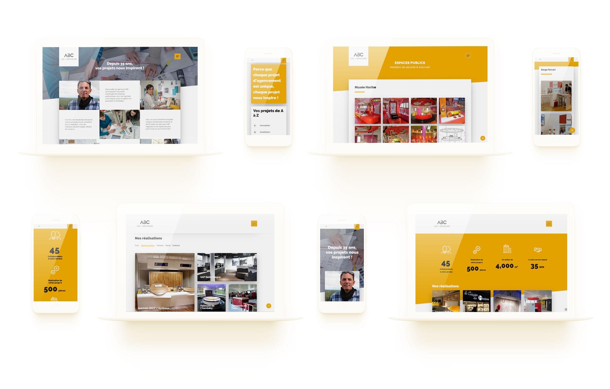 ABC Agencement responsive wordpress agence web design lyon graphisme developpement application mobile illustrations logo ecommerce boutique en ligne