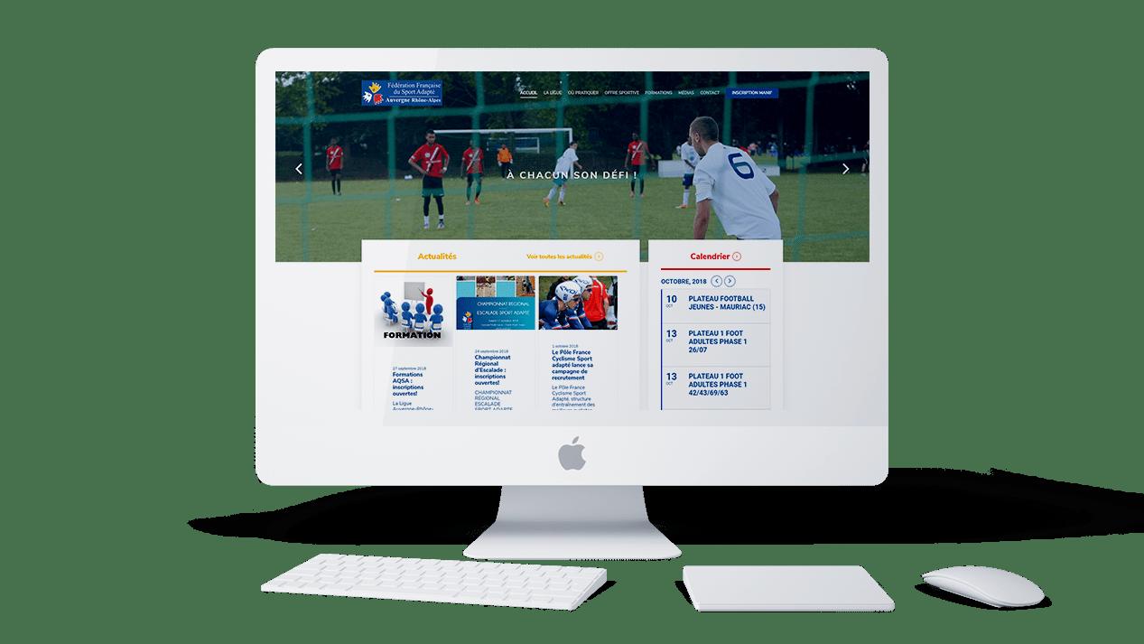 Ligue du sport wordpress agence web lyon developpement application