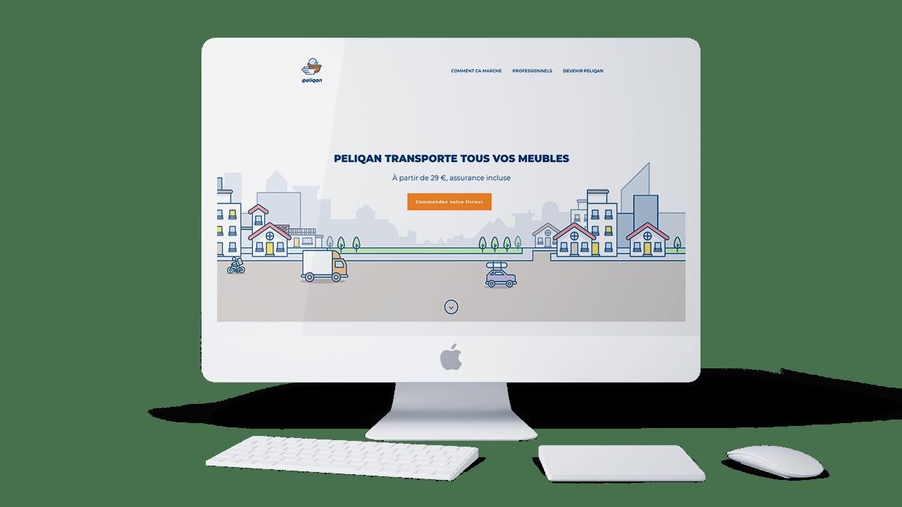 Peliqan application mobile agence lyon wordpress illustration logo graphisme web design developpement