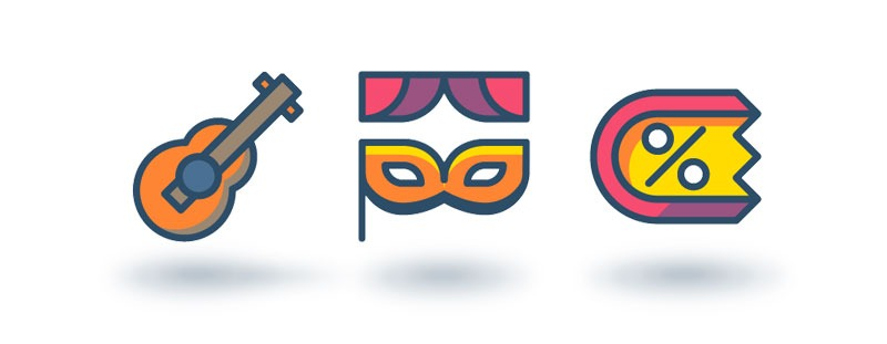 illustrations icons baroudeur wordpress application mobile agence arkanite lyon web design developpement graphisme
