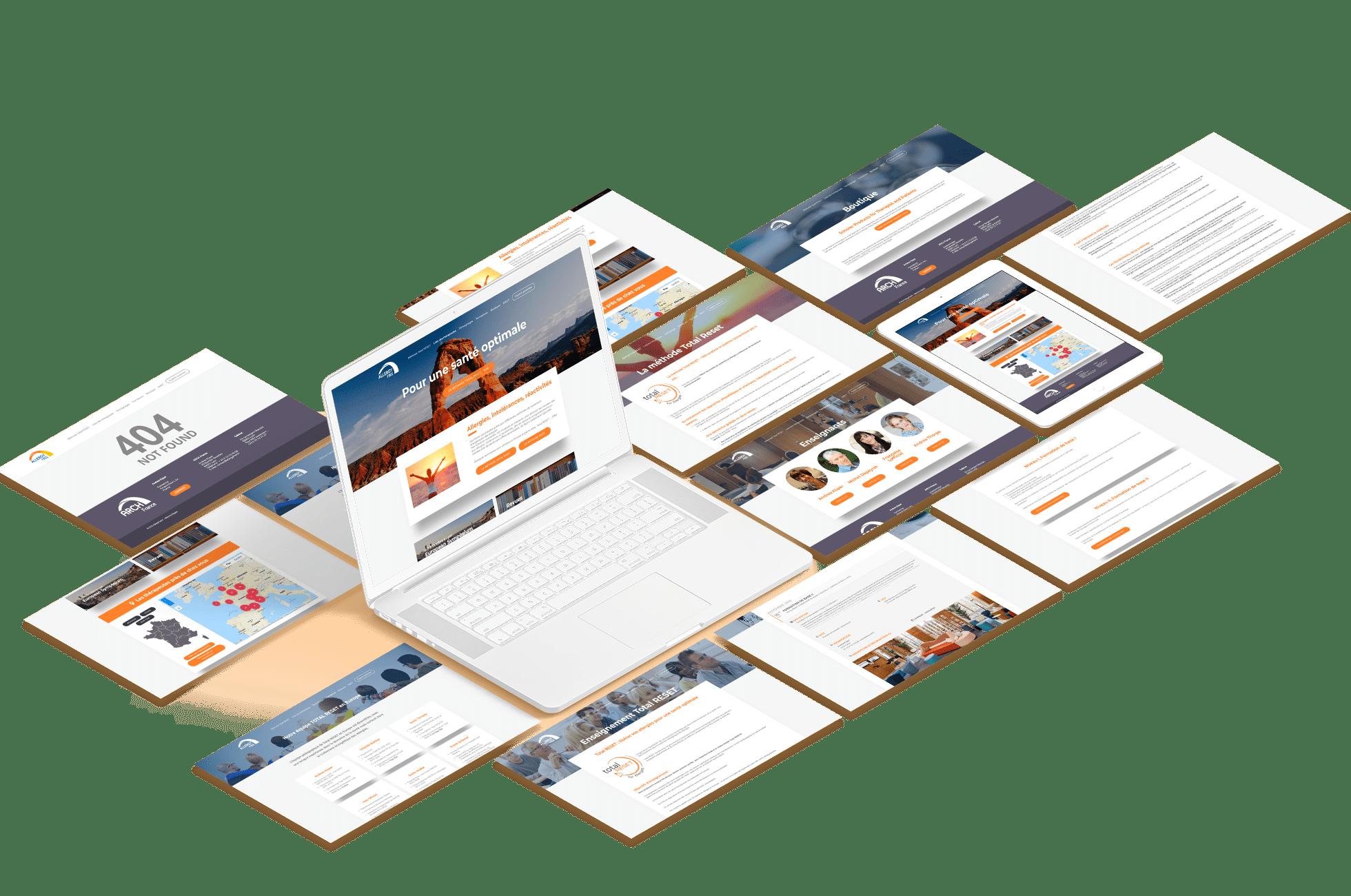 interface allergyfree wordpress agence web design lyon arkanite graphisme developpement logo illustrations ecommerce application mobile