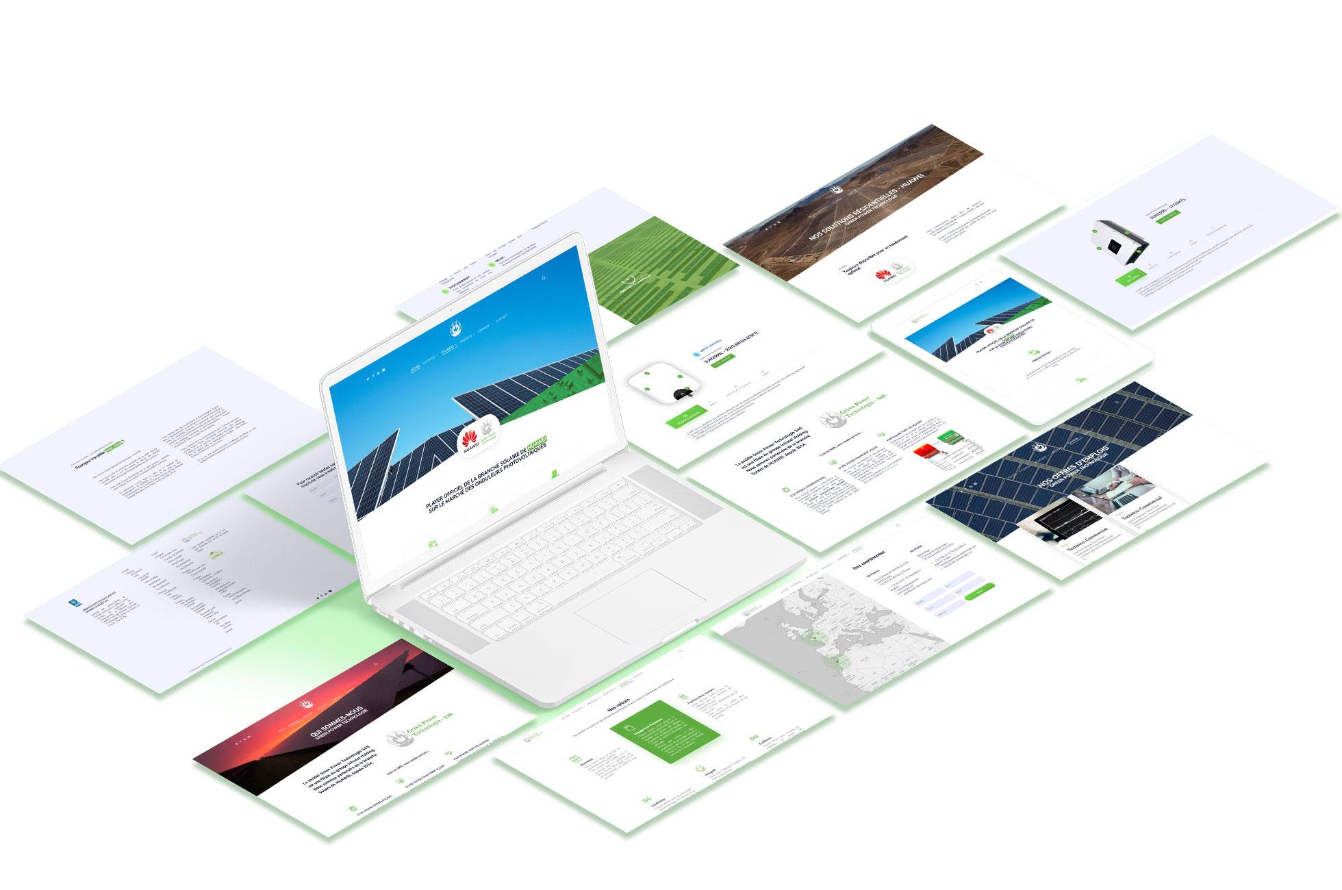 interface green power wordpress agence web design lyon arkanite graphisme developpement logo illustrations ecommerce application mobile