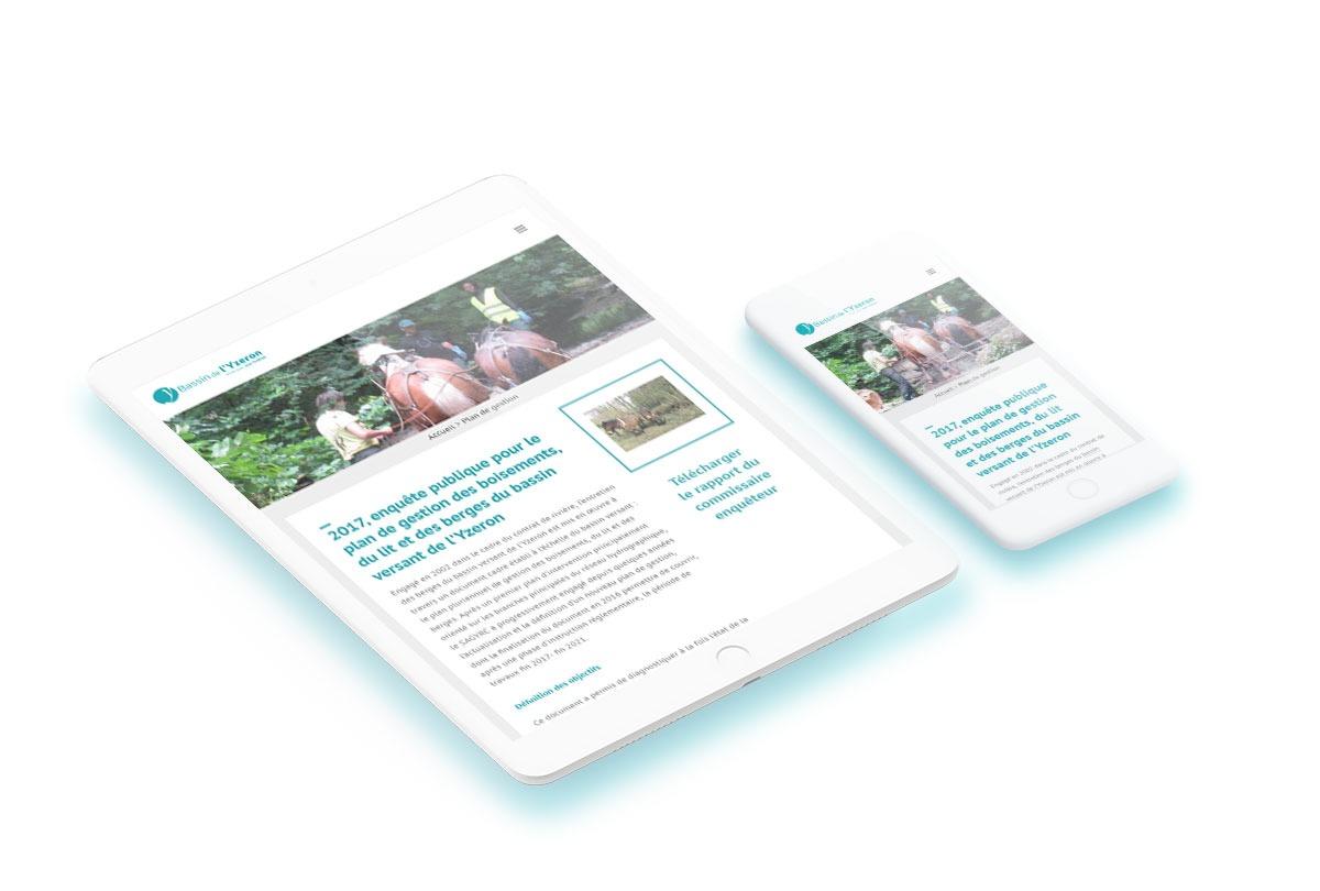 ipad iphone Yzeron site wordpress agence web design developpement application mobile graphisme illustration logo lyon