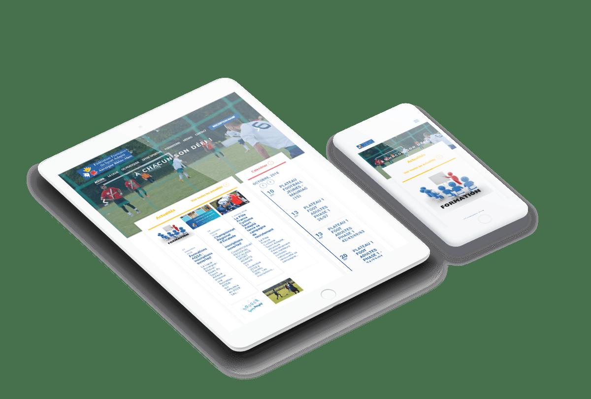 ipad iphone sport adapte site wordpress agence lyon
