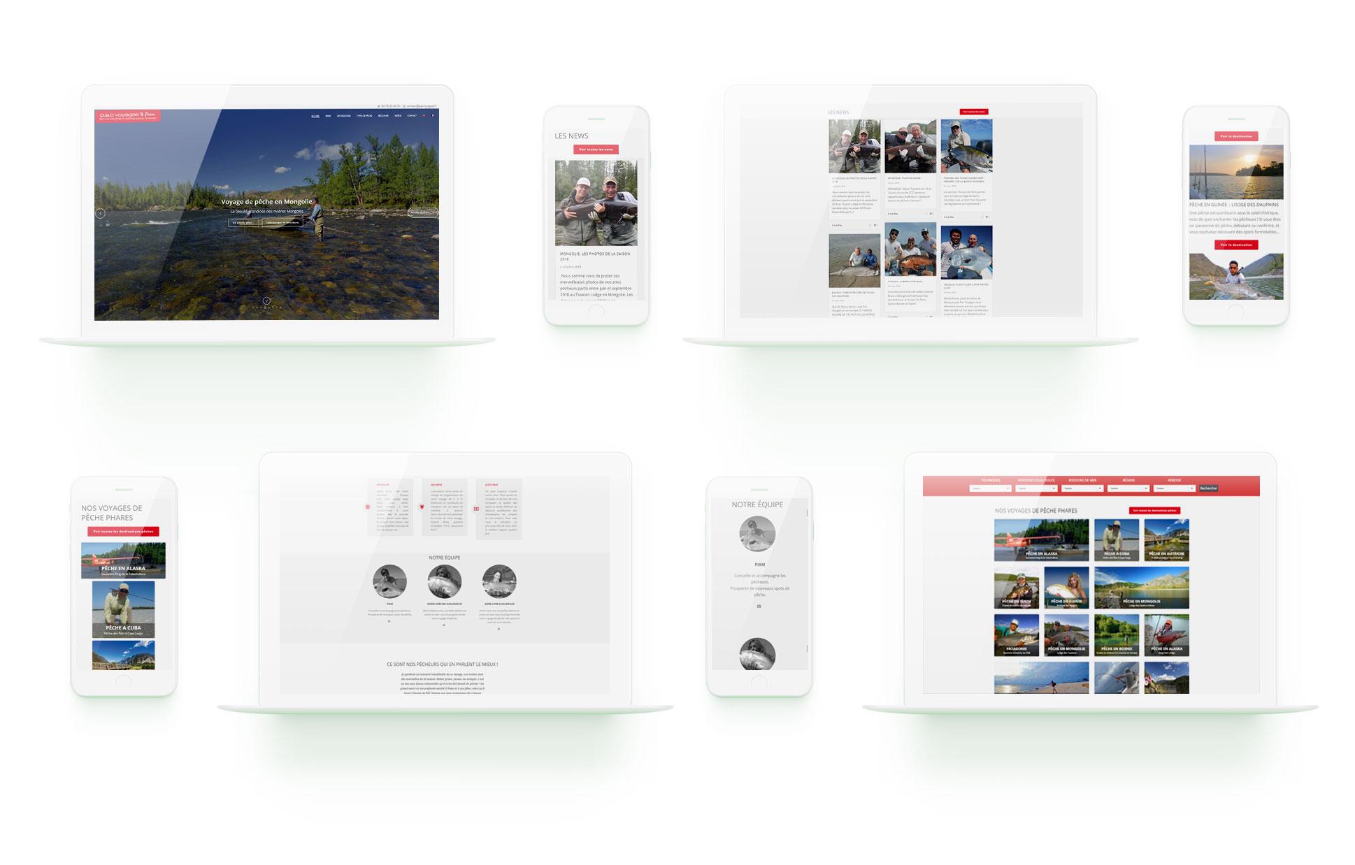 macbook iphone mockup PAC voyages agence web design site wordpress lyon boutique ecommerce commerce en ligne graphisme illustration logo arkanite
