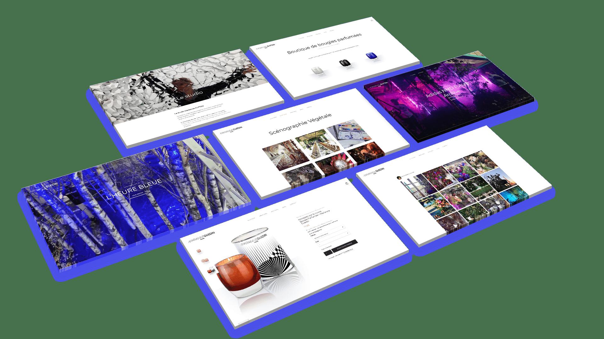 marianne guedin wordpress agence web design lyon arkanite developpement application mobile graphisme logo icones illustration pages