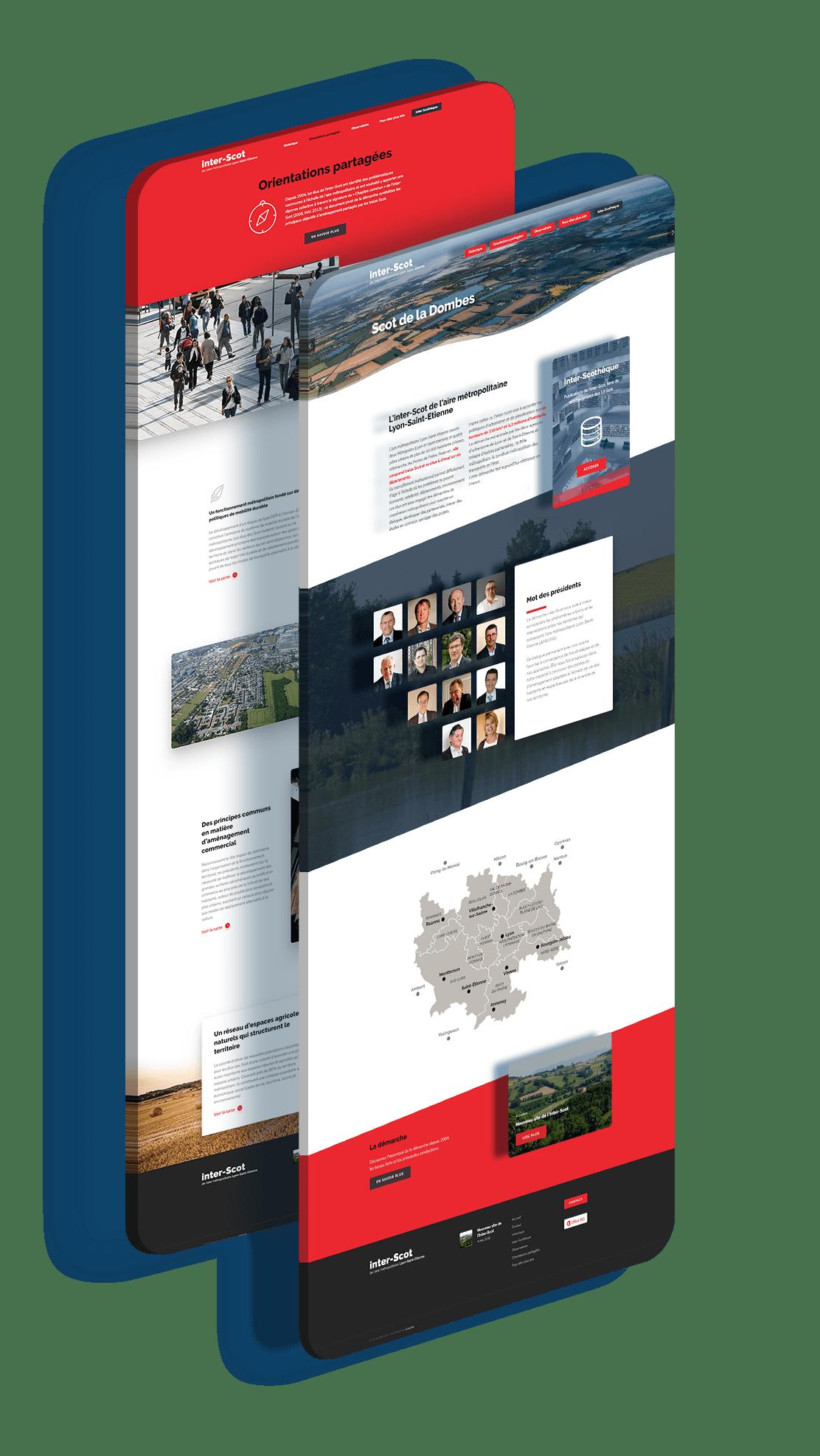 onepage inter scot lyon saint etienne agence wordpress webdesign arkanite responsive adaptatif