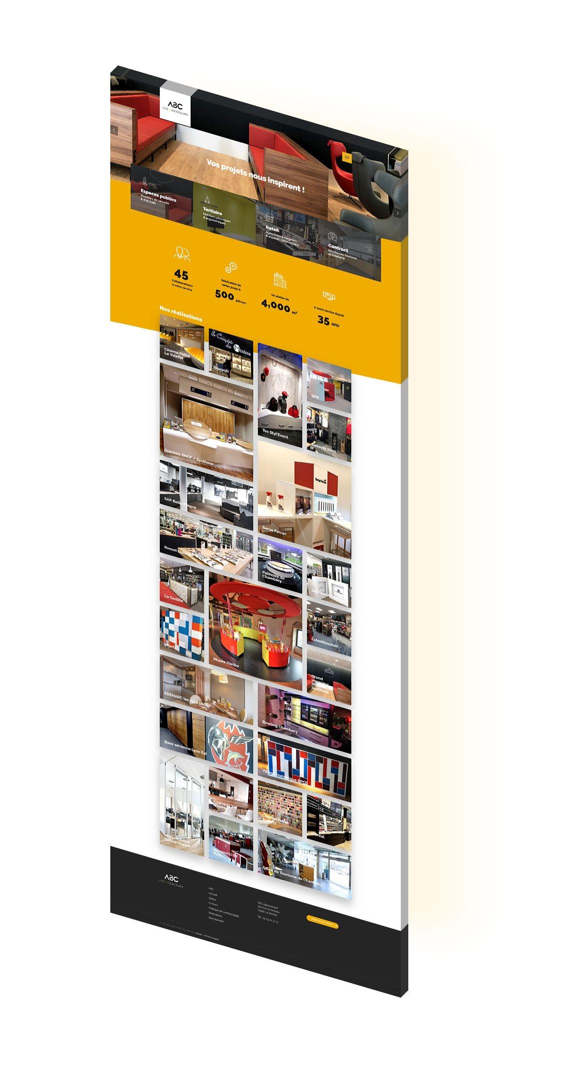 onepage isometric site wordpress agence web design developpement application mobile graphisme illustration logo lyon boutique en ligne ecommerce commerce internet