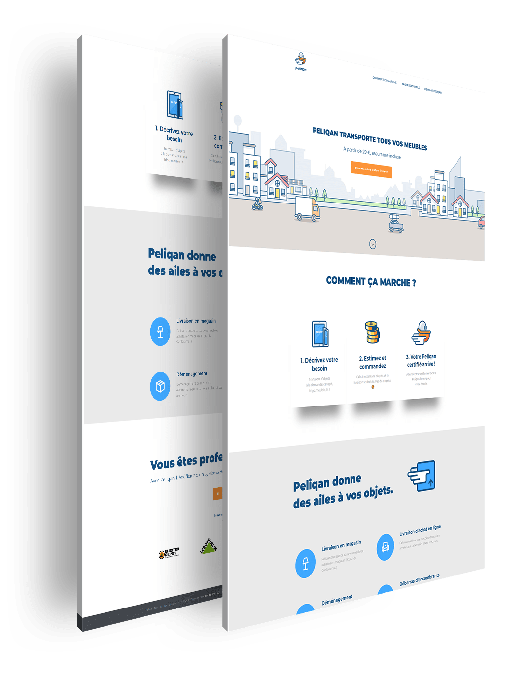 page entiere Peliqan application mobile agence lyon wordpress illustration logo graphisme web design developpement
